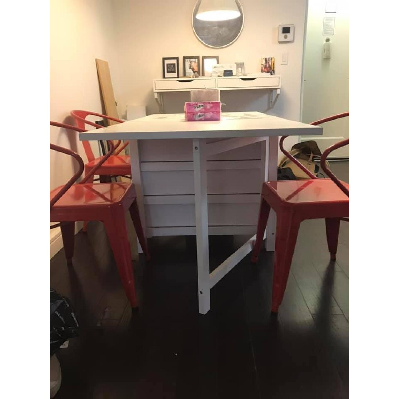 Ikea Norden White Gateleg Table - image-3