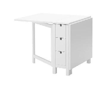 Ikea Norden White Gateleg Table