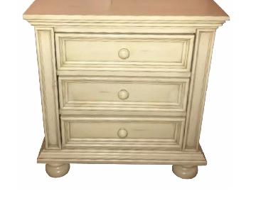 Cream Bedside Tables w/ Details