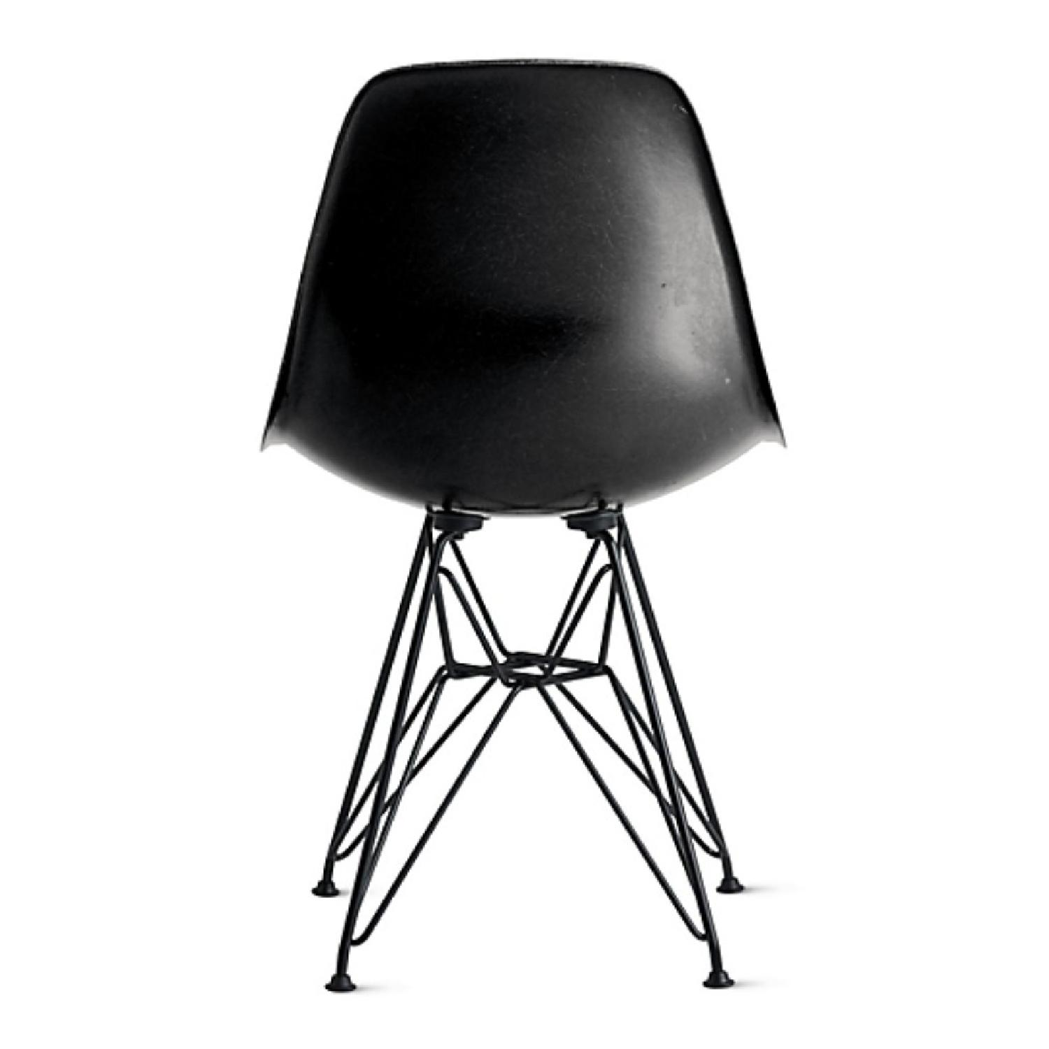 Eames Molded Fiberglass Wire-Base Side Chair in Navy - image-3