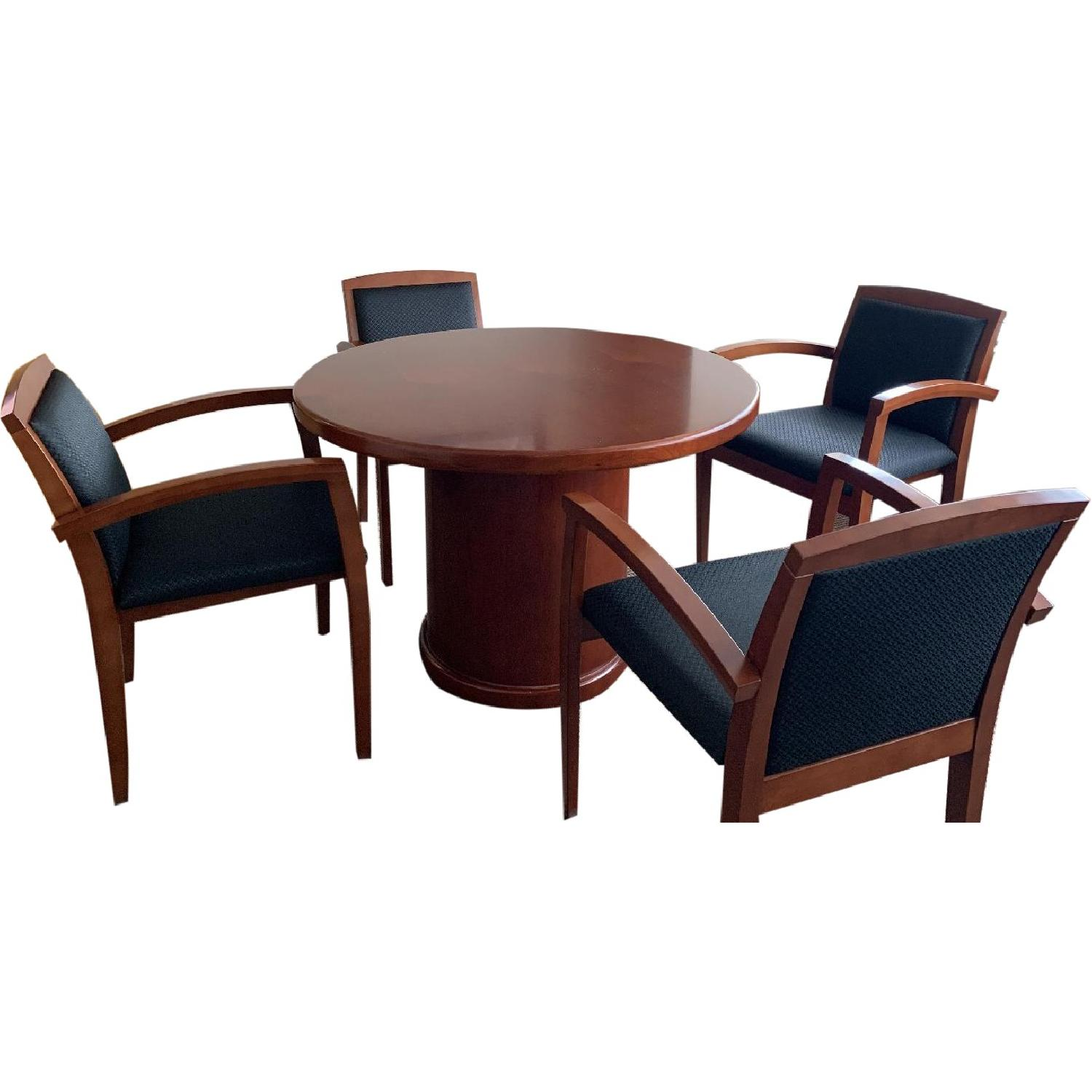 Wood Bistro Table w/ 4 Chairs - image-0