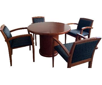 Wood Bistro Table w/ 4 Chairs