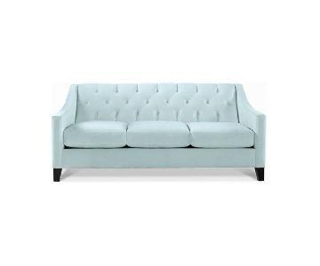 Max Home Chloe Seafoam Velvet Tufted Sofa