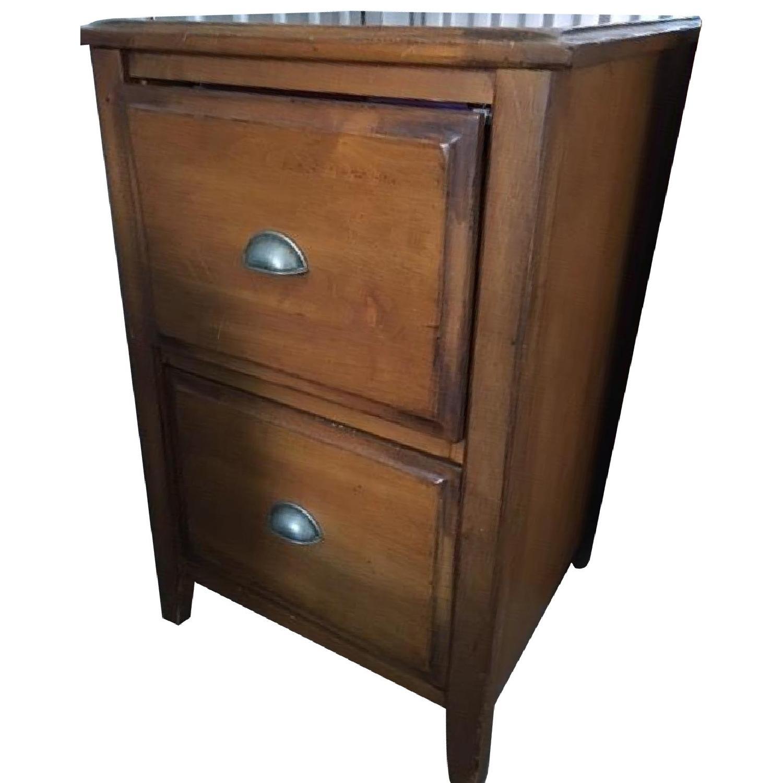 Pottery Barn Retro Wood Filing Cabinet
