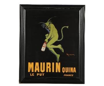 Leonetto Cappiello Maurin Quina Offset Lithograph Poster