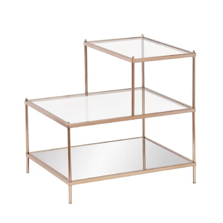 Willa Arlo Interiors Glass & Brass End Table - image-0