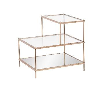 Willa Arlo Interiors Glass & Brass End Table