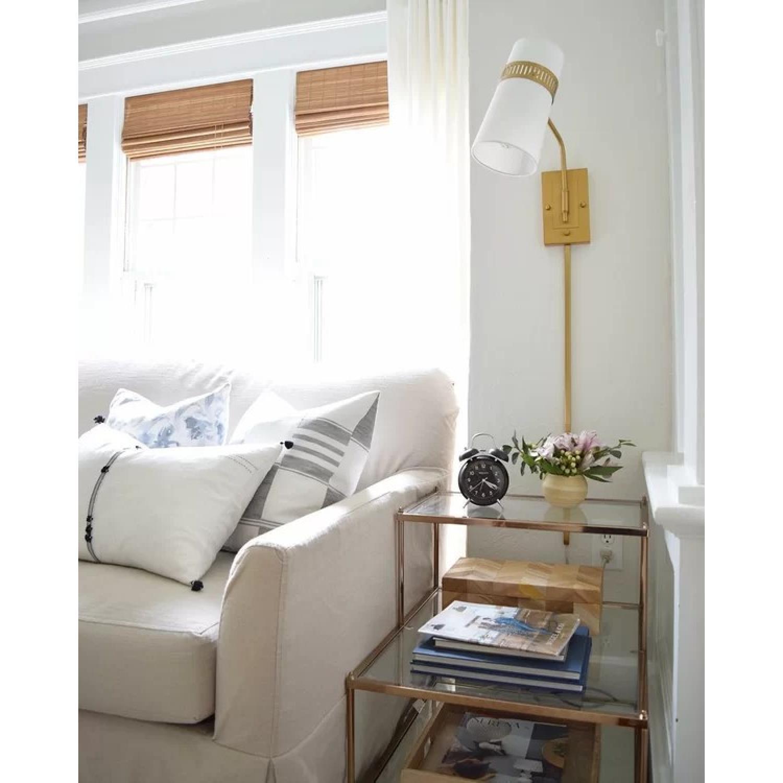 Willa Arlo Interiors Glass & Brass End Table - image-2