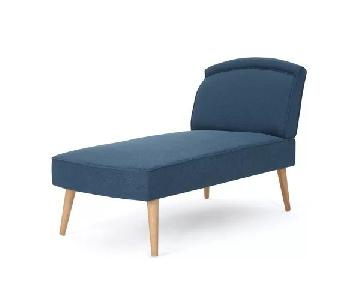 Trule Teen Linder Navy Chaise Lounge