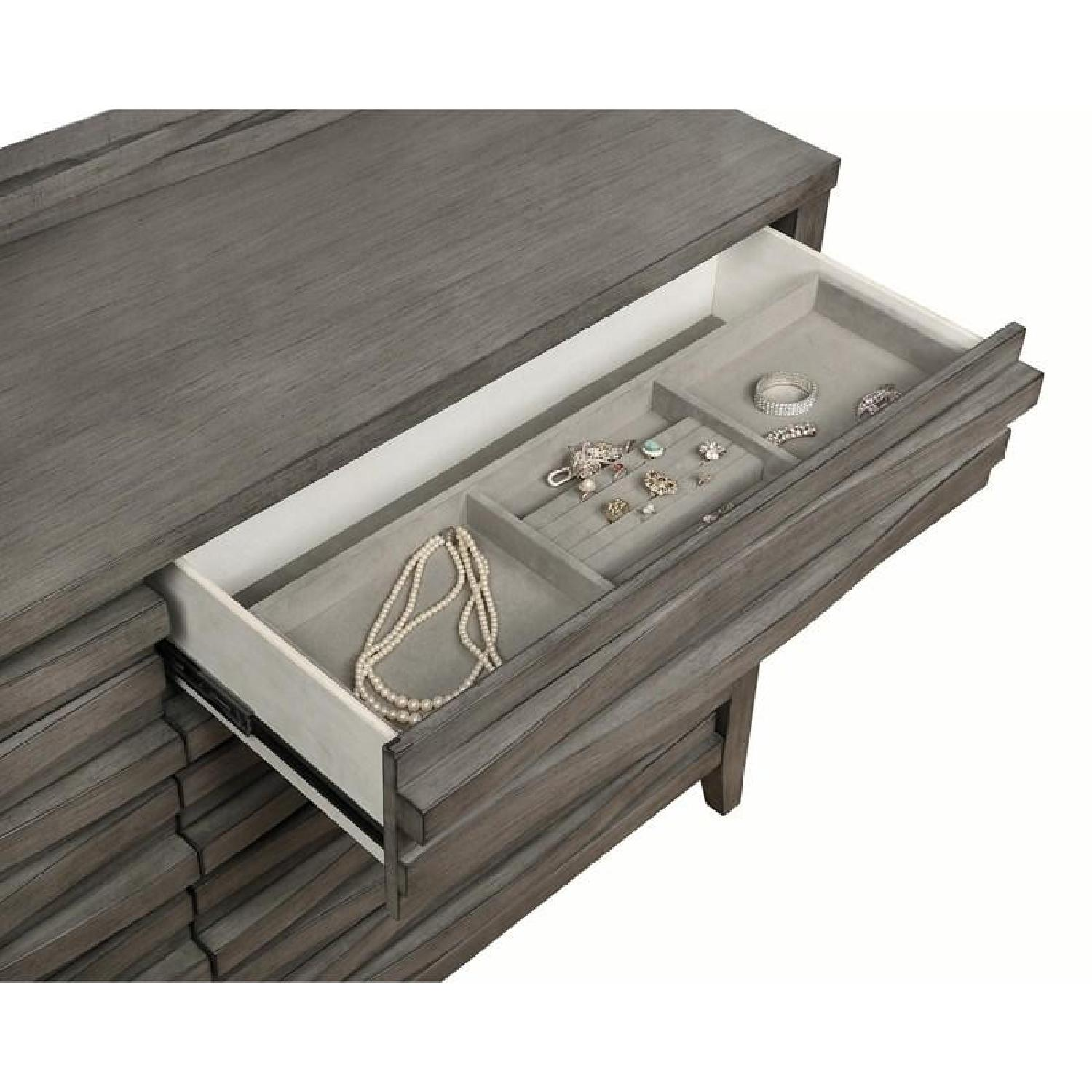 Queen Bed in Dark Taupe w/ 2 Storage Drawers - image-10