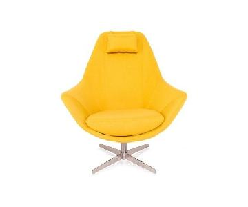 Modani Kendra Contemporary Arm Chair in Yellow