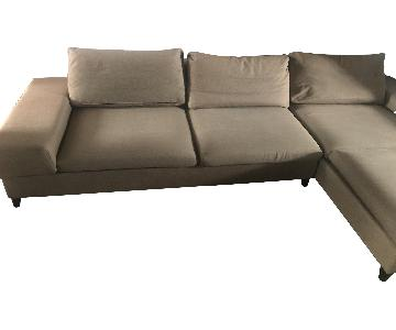 Beige 3-Piece Chaise Sectional Sofa