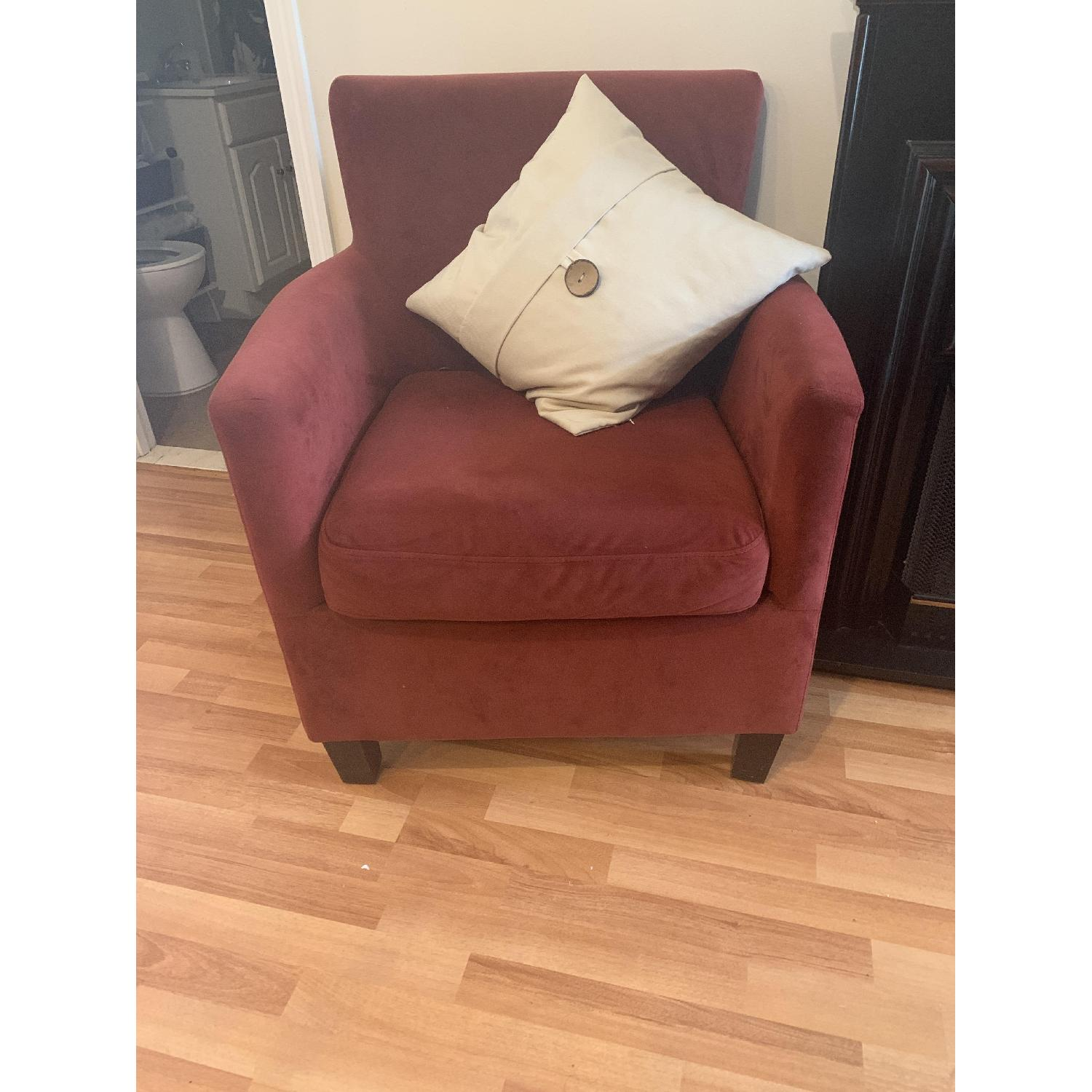 Dark Red Arm Chairs - image-1