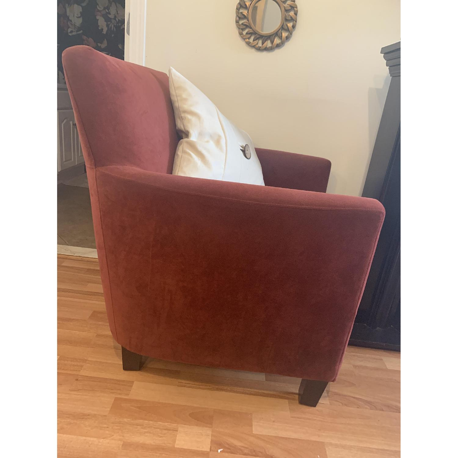 Dark Red Arm Chairs - image-2