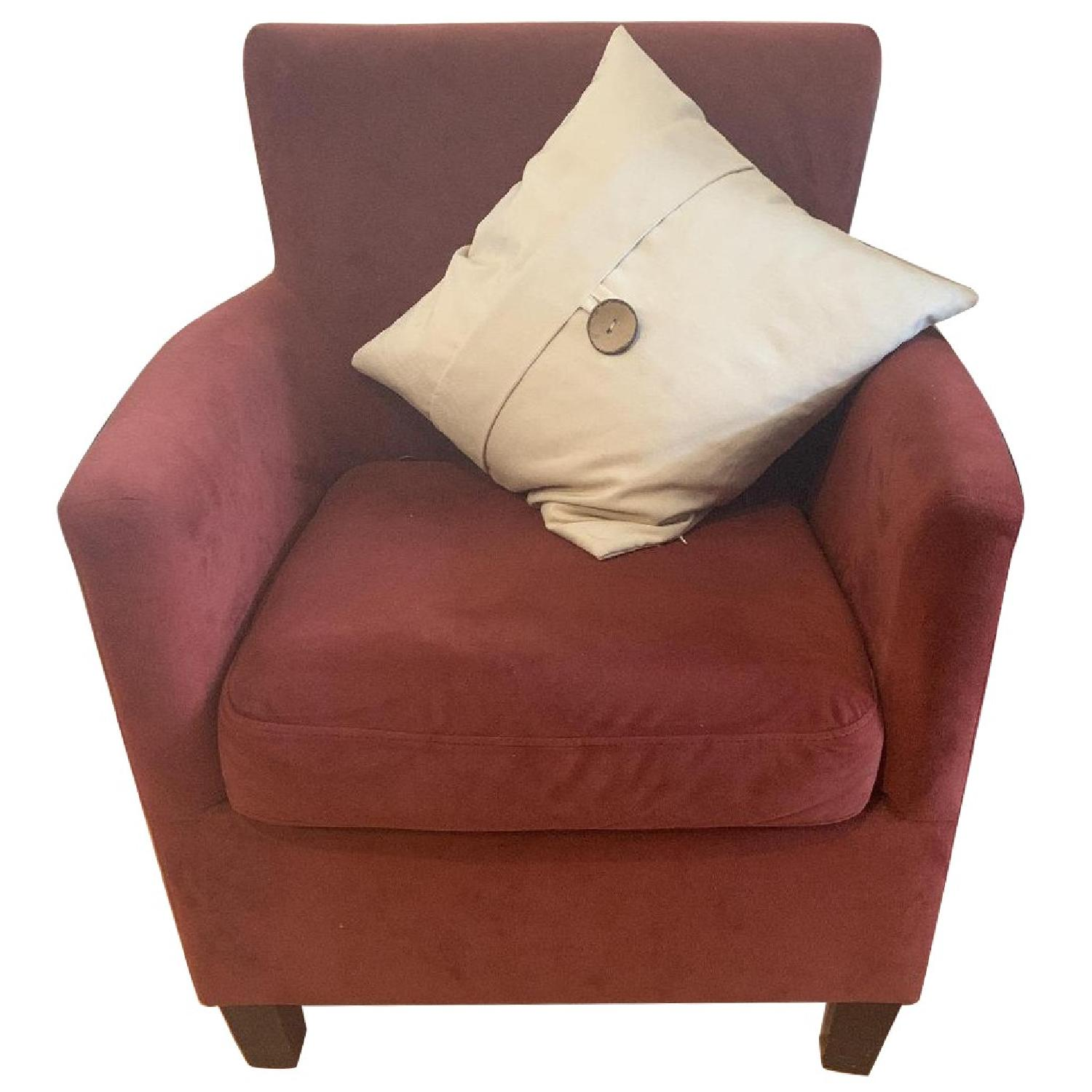 Dark Red Arm Chairs - image-0