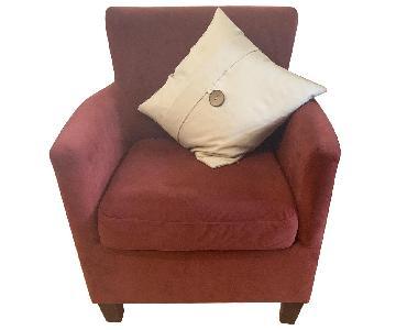 Dark Red Arm Chairs