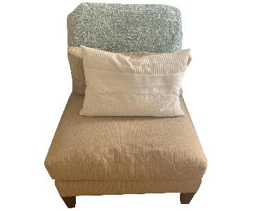 Crate & Barrel Light Yellow Accent Slipper Chair