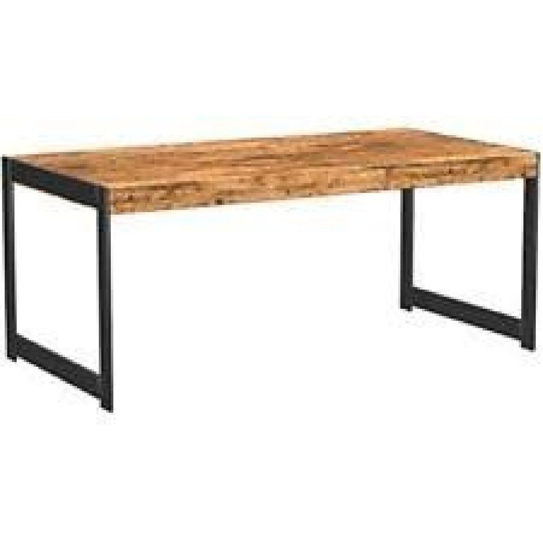Antique Nutmeg Rustic Coffee Table - image-0