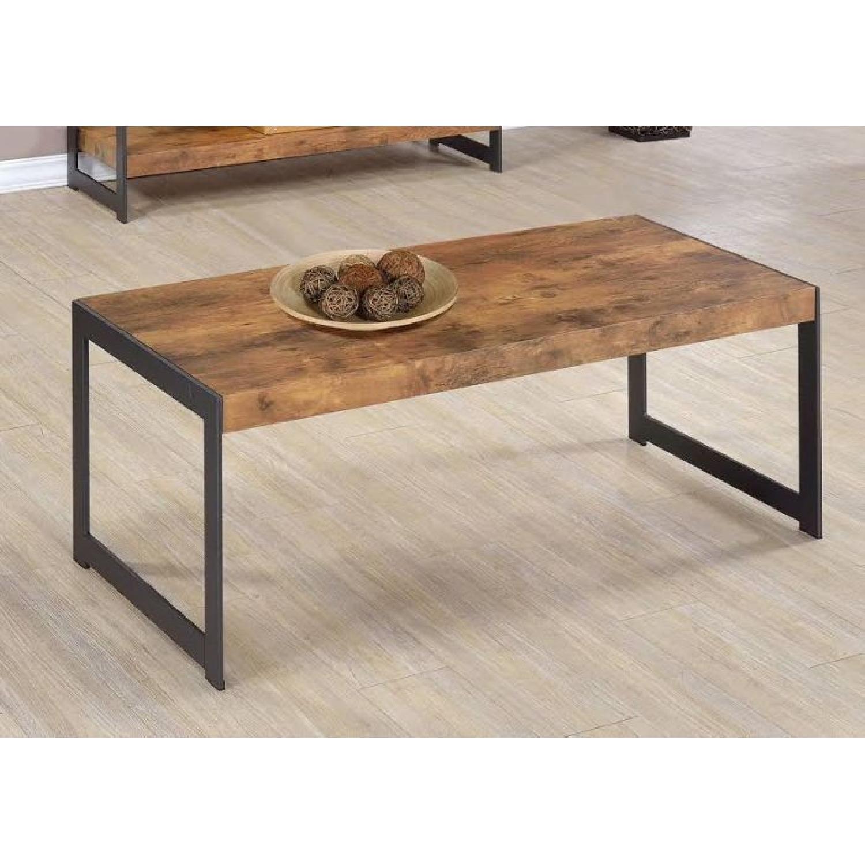Antique Nutmeg Rustic Coffee Table - image-1