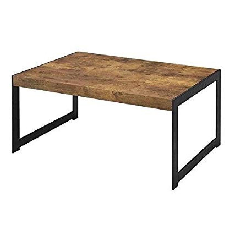 Antique Nutmeg Rustic Coffee Table - image-2