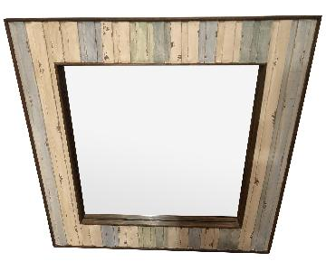 Lane Rustic Farmhouse-Style Wood Wall Mirror