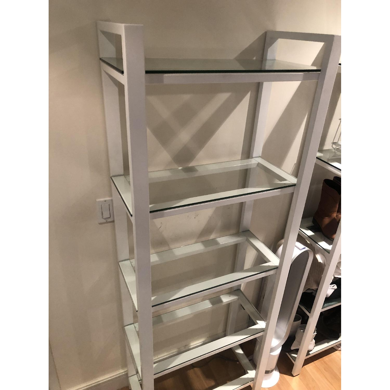 Crate & Barrel Glass Bookshelves - image-1