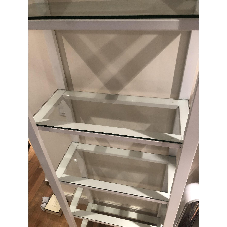 Crate & Barrel Glass Bookshelves - image-2