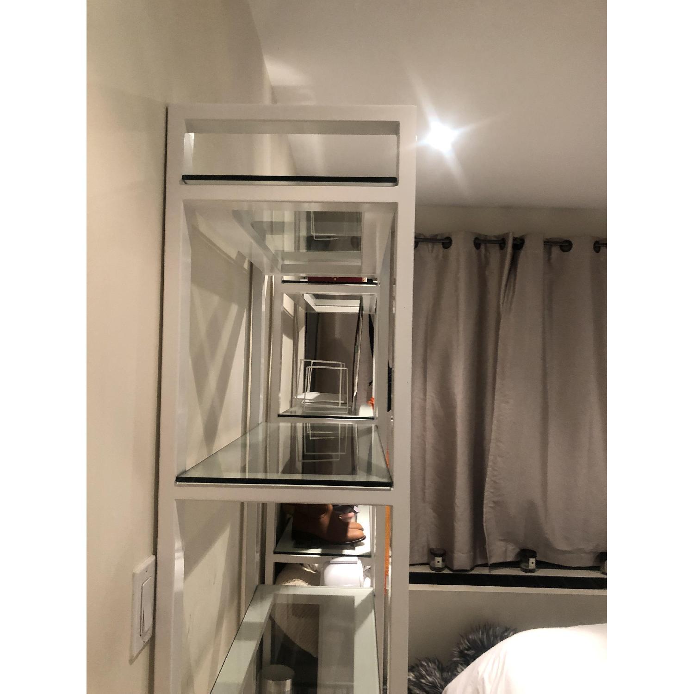 Crate & Barrel Glass Bookshelves - image-3