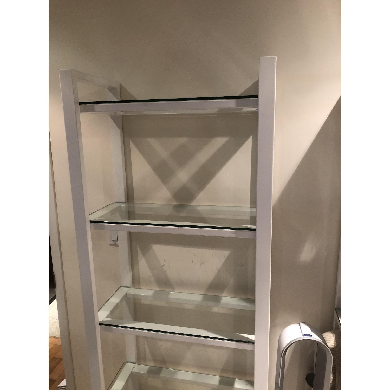 Crate & Barrel Glass Bookshelves - image-4