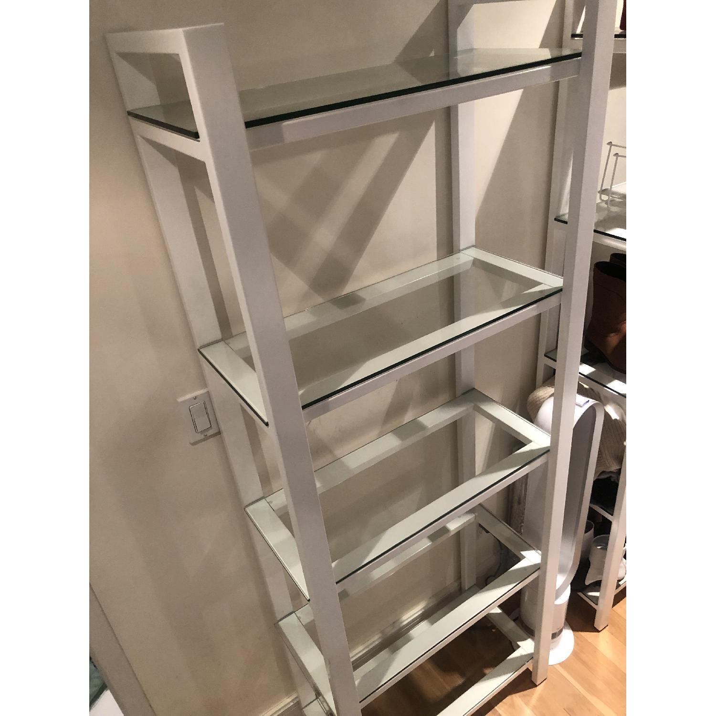Crate & Barrel Glass Bookshelves - image-5