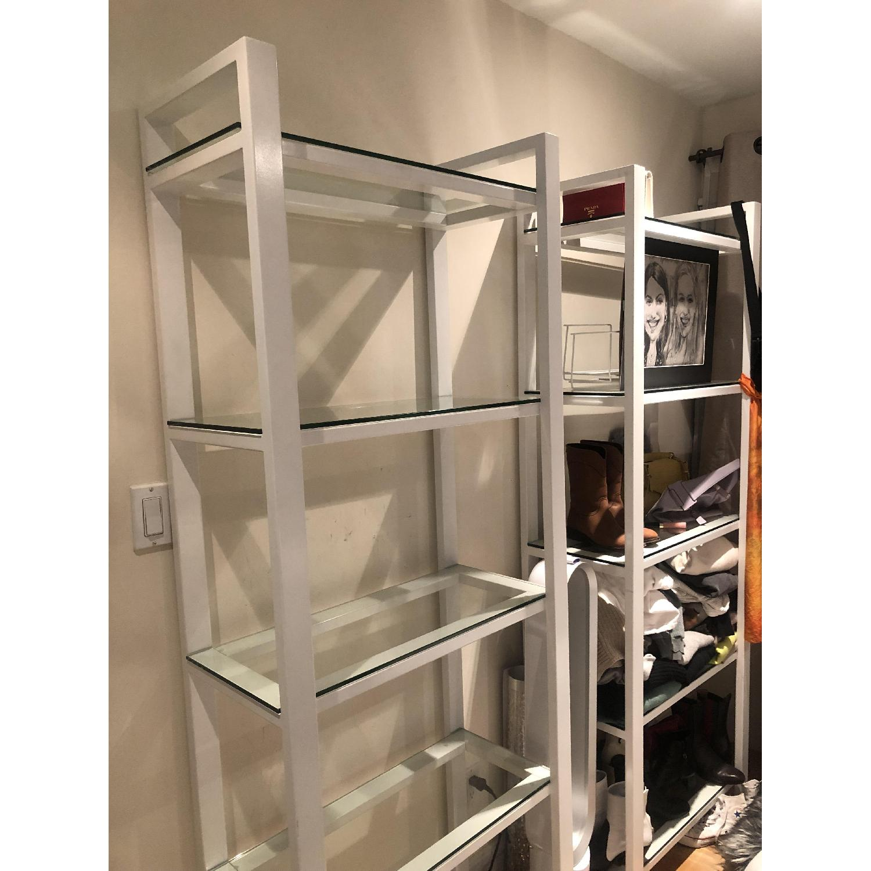 Crate & Barrel Glass Bookshelves - image-6