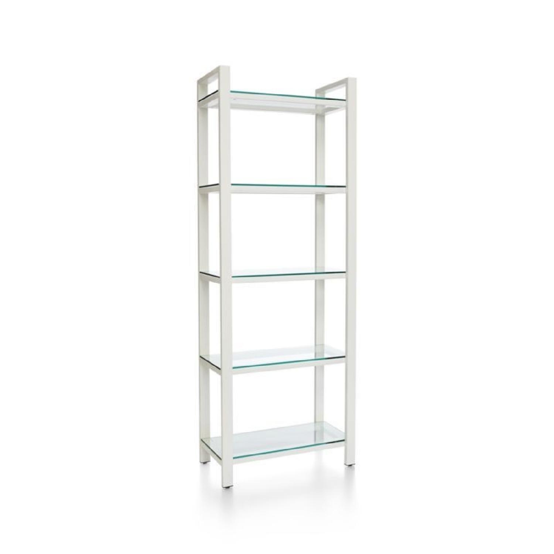 Crate & Barrel Glass Bookshelves - image-0