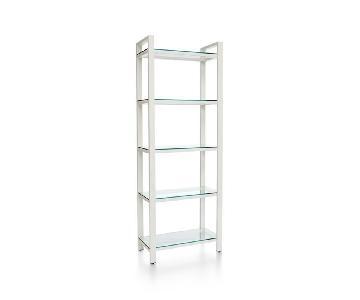Crate & Barrel Glass Bookshelves
