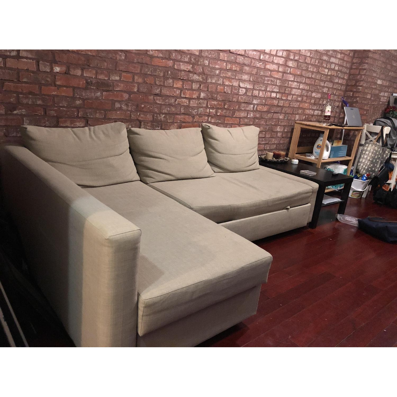 Ikea Holmsund Sectional Sleeper Sofa In Natural