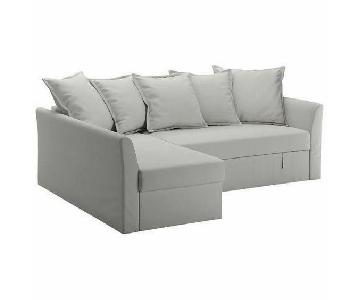 Ikea Holmsund Sectional Sleeper Sofa in Natural