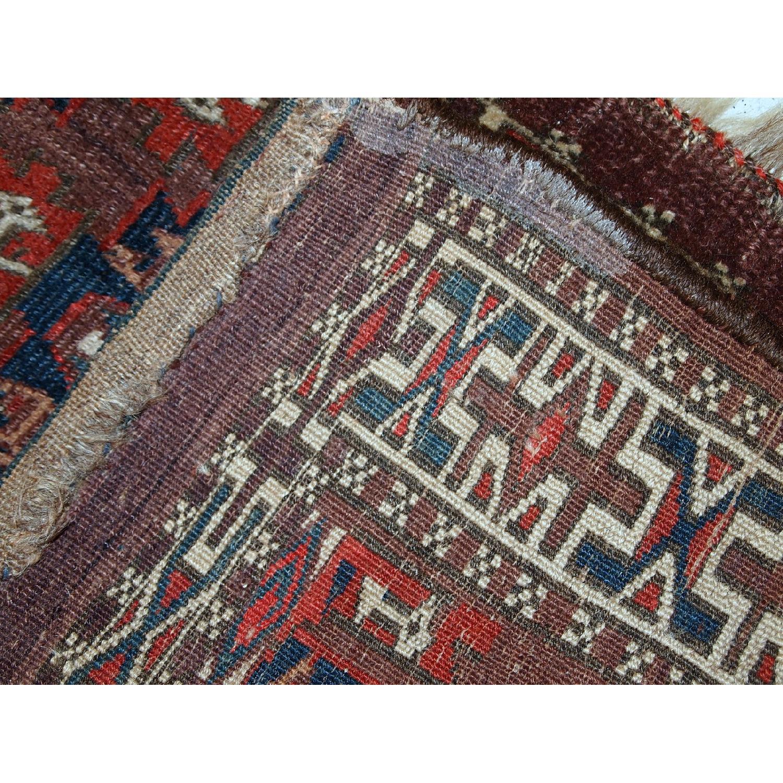 Handmade Antique Collectible Turkmen Yomud Rug