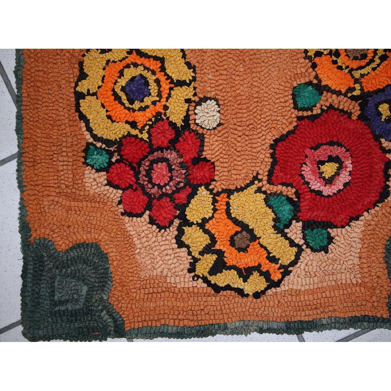 Vintage Handmade American Hooked Rug