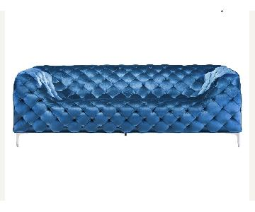 Wade Logan Light Blue Tufted Sofa