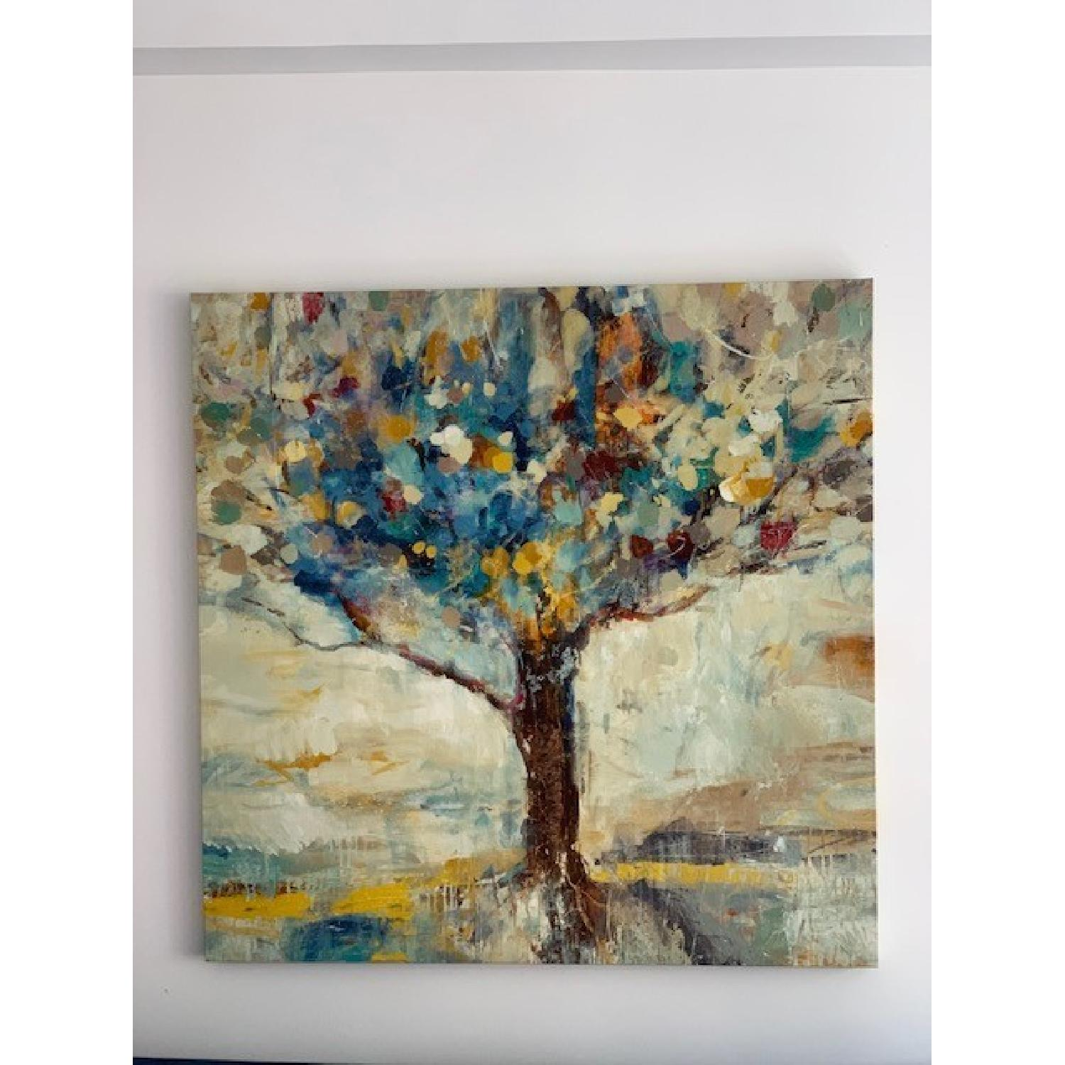 Ballard Designs Tree Giclee Cotton Canvas on Wood Frame - image-1