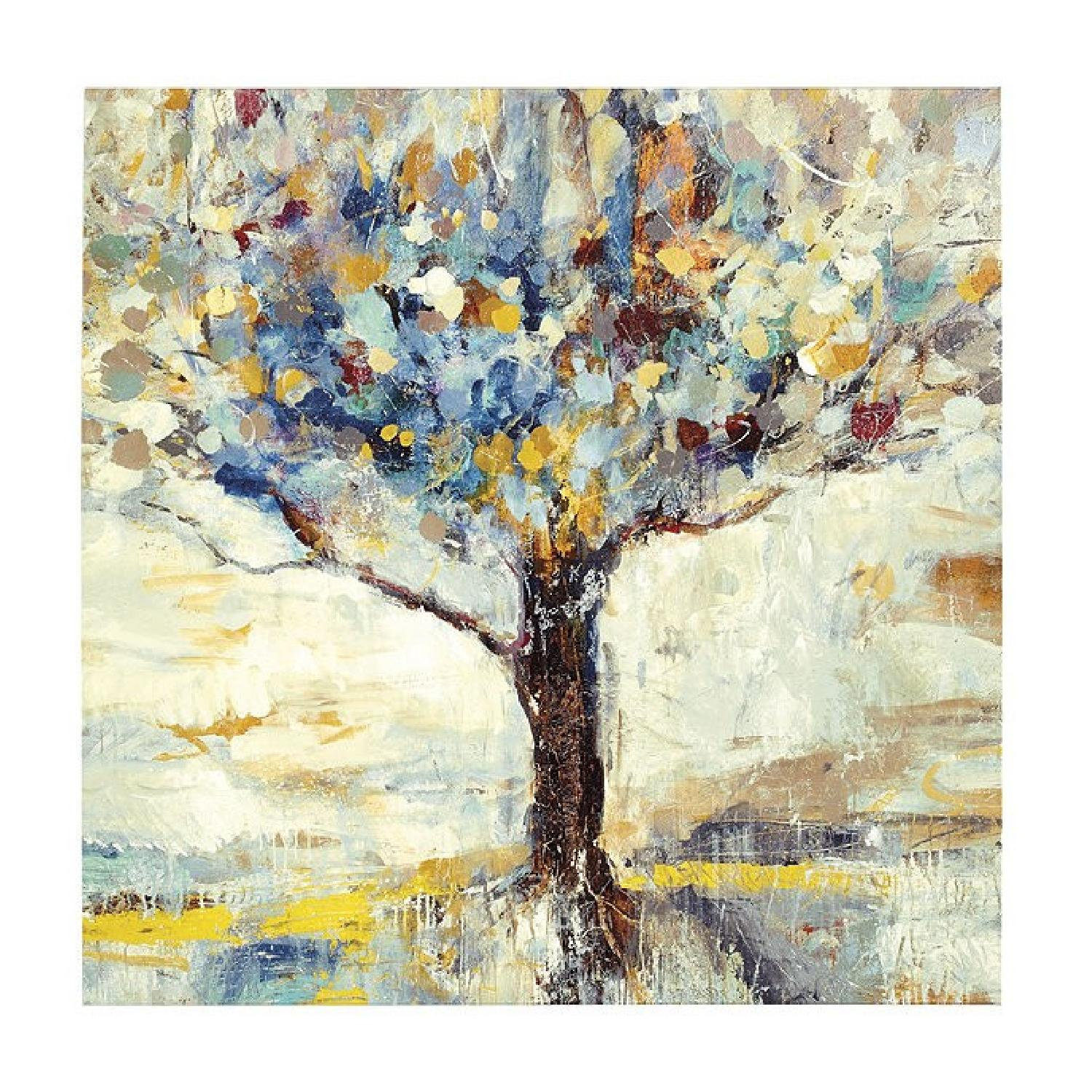 Ballard Designs Tree Giclee Cotton Canvas on Wood Frame - image-0