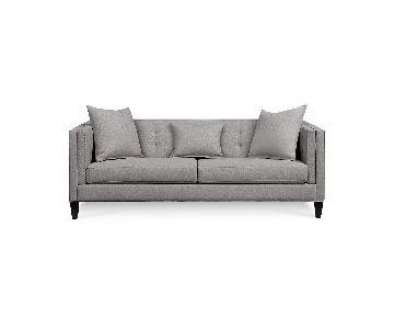 Macy's Braylei Light Grey Sofa