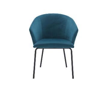 Modani Alta Green Velvet Dining Chairs
