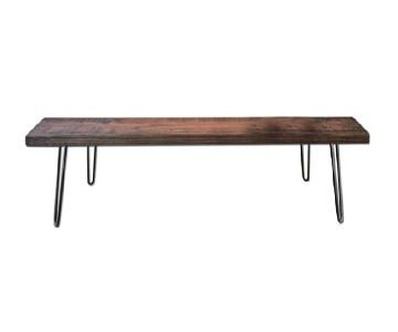 Wine & Hammer Reclaimed Wood Bench/Coffee Table