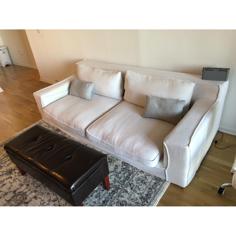 Restoration Hardware Belgian Slope Arm Slipcovered Sofa - image-3