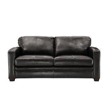 Raymour & Flanigan Trent Leather Queen Sleeper Sofa