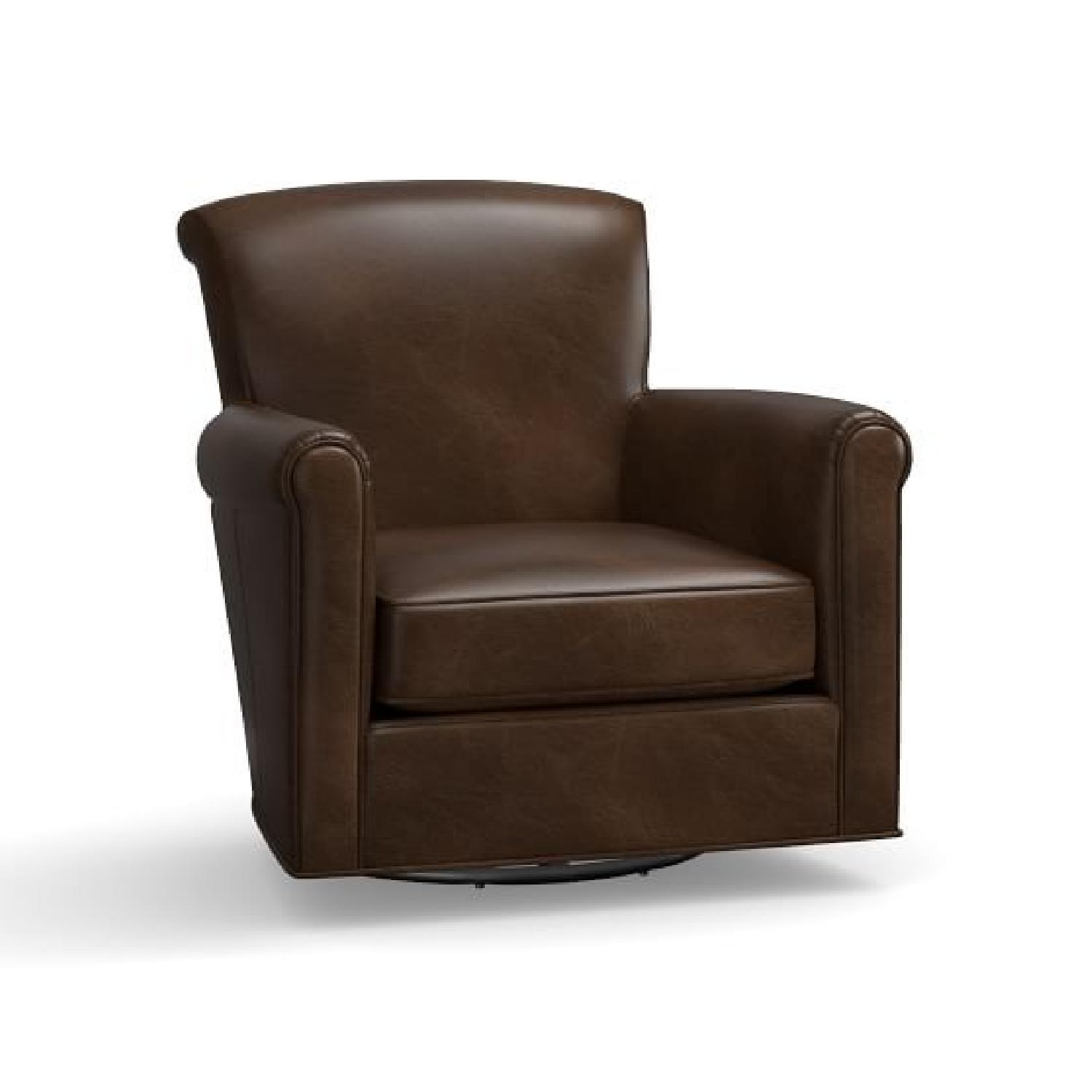 Awesome Pottery Barn Irving Leather Swivel Chairs Aptdeco Gmtry Best Dining Table And Chair Ideas Images Gmtryco