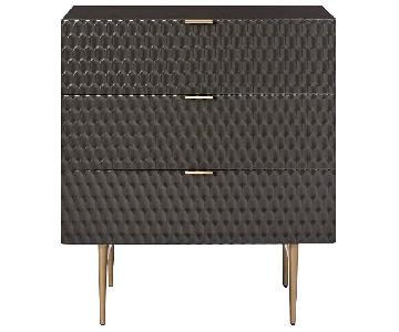 West Elm Audrey 3 Draw Dresser in Charcol