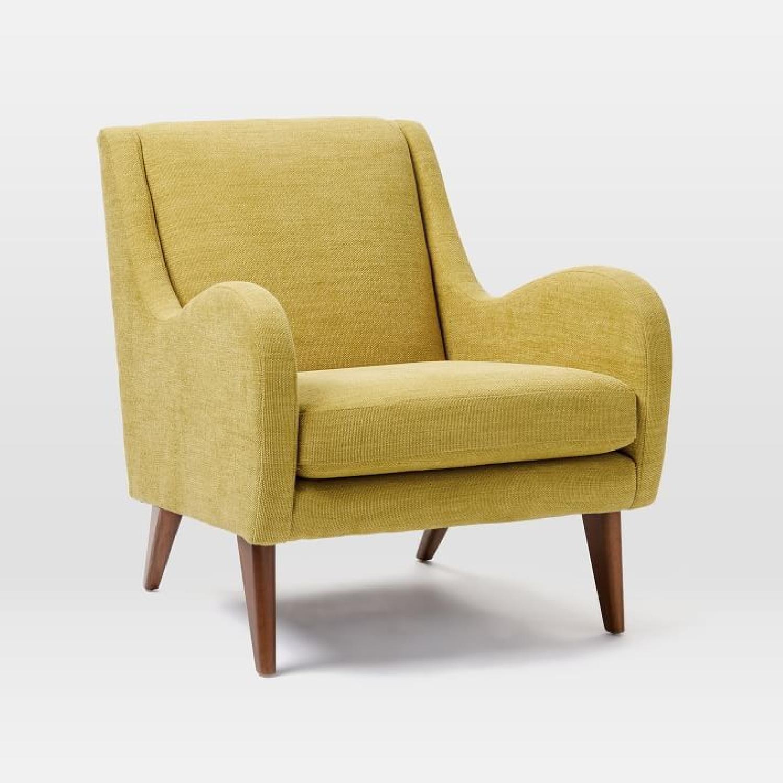 West Elm Sebastian Chair in Dark Horseradish - image-1