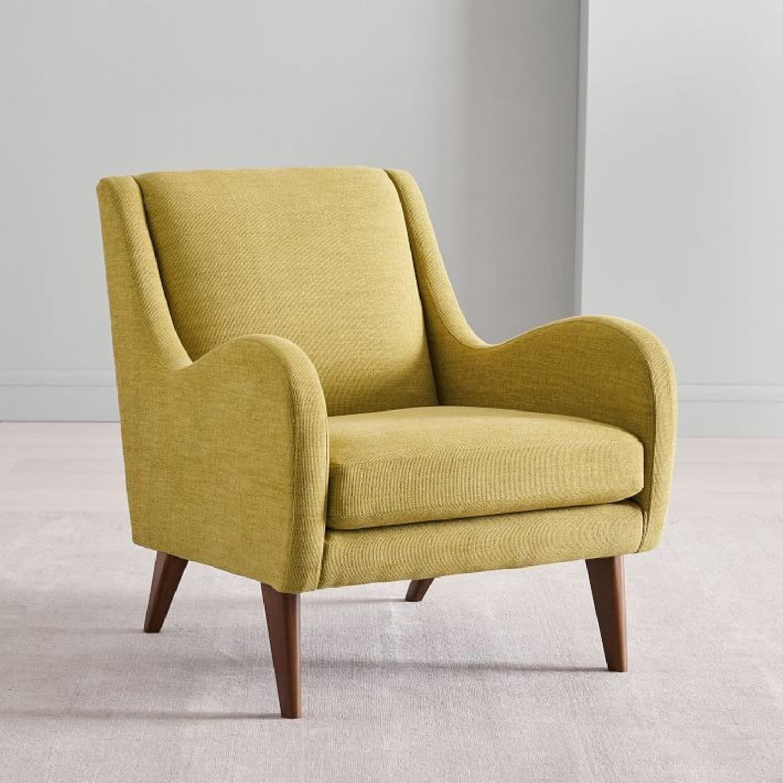West Elm Sebastian Chair in Dark Horseradish - image-4