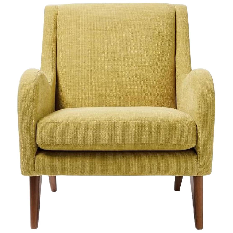 West Elm Sebastian Chair in Dark Horseradish - image-0